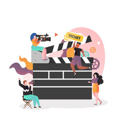 Film industry concept for web banner vector