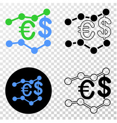 financial trends eps icon with contour vector image
