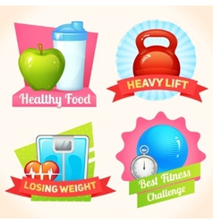Fitness labels set vector image vector image