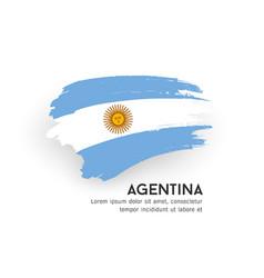 Flag argentina brush stroke design vector