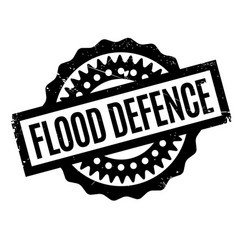 Flood defence rubber stamp vector