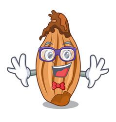 geek character fresh shallots at farmer market vector image