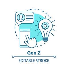 Gen z concept icon age group idea thin line vector