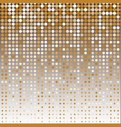Gold dot halftone abstract background vector