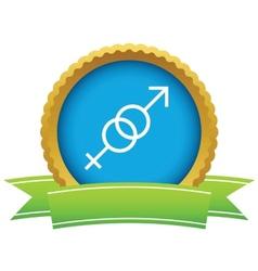 Gold sex logo vector