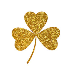 golden clover trefoil vector image