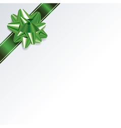 Green Christmas Present Bow and Ribbon Background vector