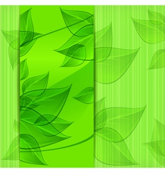 green leaves modern design vector image