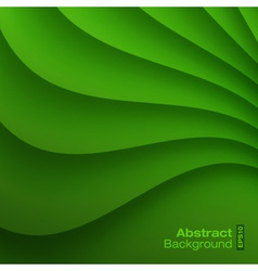 Green Wavy background vector image
