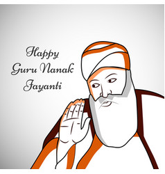Guru nanak jayanti background vector