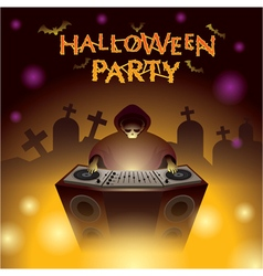 Halloween dj party vector