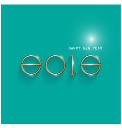 Happy new year 2015 creative design vector image
