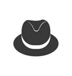 Hat cloth male man gentleman icon graphic vector