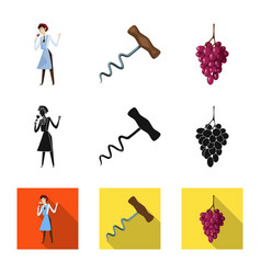 isolated object farm and vineyard sign vector image