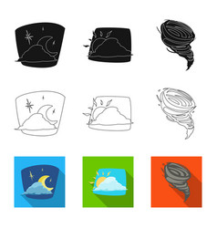 isolated object of weather and climate logo set vector image