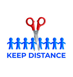 keep a distance vector image
