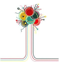 Knitting yarn balls abstract composition vector