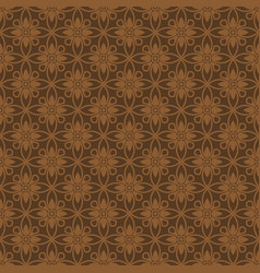 Korean traditional red brown flower pattern vector