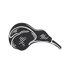 Lamb chop glyph icon vector