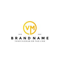 Letter vm logo design vector