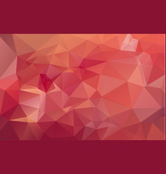 Light red polygonal which consist of triangles vector