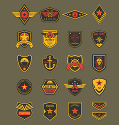 Military patches army chevrons air forces vector