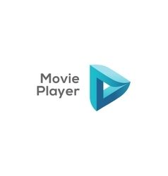 Movie player logo concept play logotype vector image