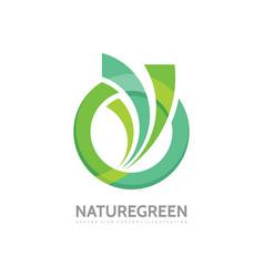 Nature green - business logo template vector