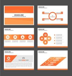 Orange Polygon presentation templates Infographic vector