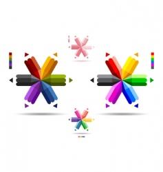 Pencil logos vector