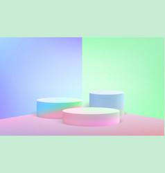 podium scene pillar stand pastel background vector image