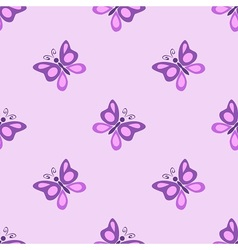 Pretty butterfly flies vector image