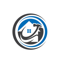 real estate logo design eco real estate lo vector image