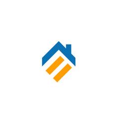 roof home shape line company logo vector image