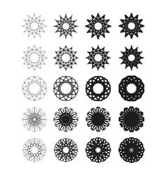Round emblems vector image