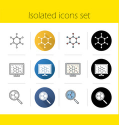 science lab icons set vector image