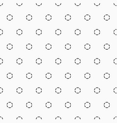 seamless geometric pattern with dotted circles vector image