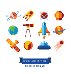 Set of icons and in flat vector