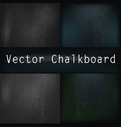 Set of realistic chalkboards for design vector