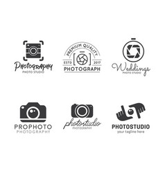 Set photography logo vector