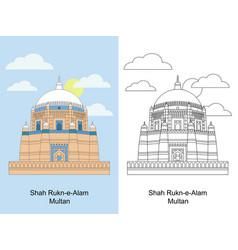 Shah rukn-e-alam multan vector