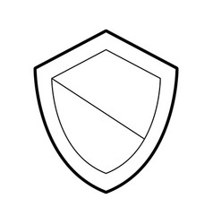 shield guard isolated icon vector image