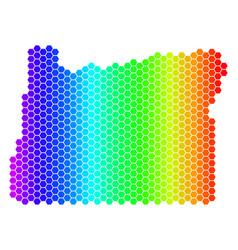 Spectrum hexagon oregon state map vector