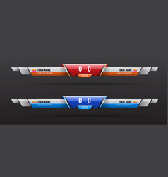 Sport scoreboard bars or lower third template with vector