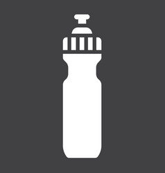 sports water bottle glyph icon fitness and sport vector image