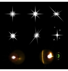Star lights set vector image