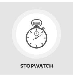 Stopwatch icon flat vector