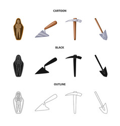 story and items symbol set vector image