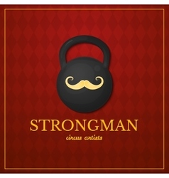 Strongman logo circus design vector