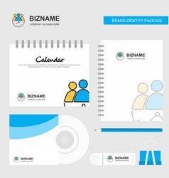 team on time logo calendar template cd cover vector image